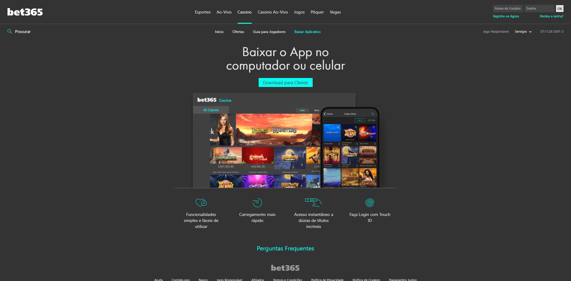 baixe a app e aproveite os jogos no bet365 cassino