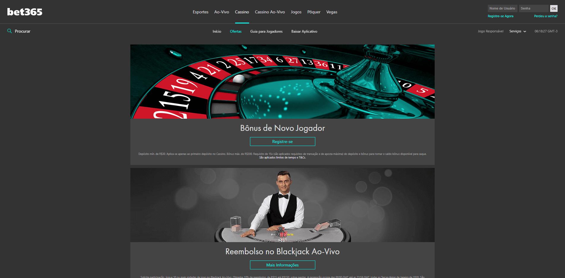 os melhores bônus na bet365 cassino