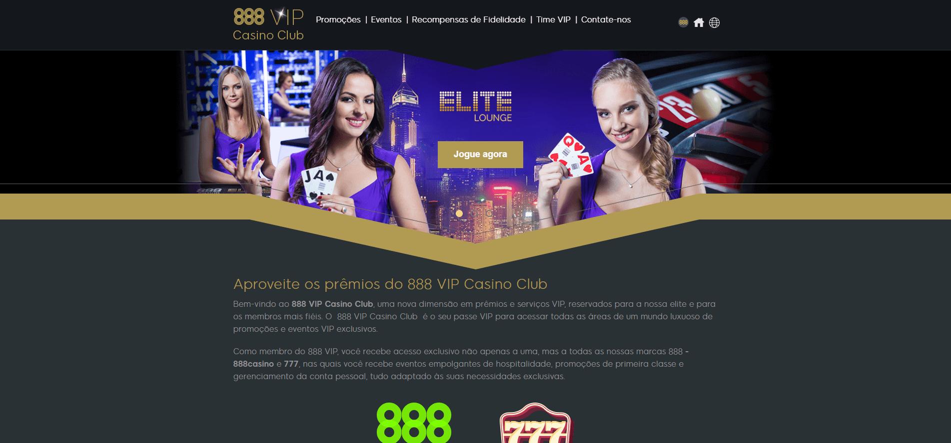 aproveite os prémios do 888 VIP Casino Club
