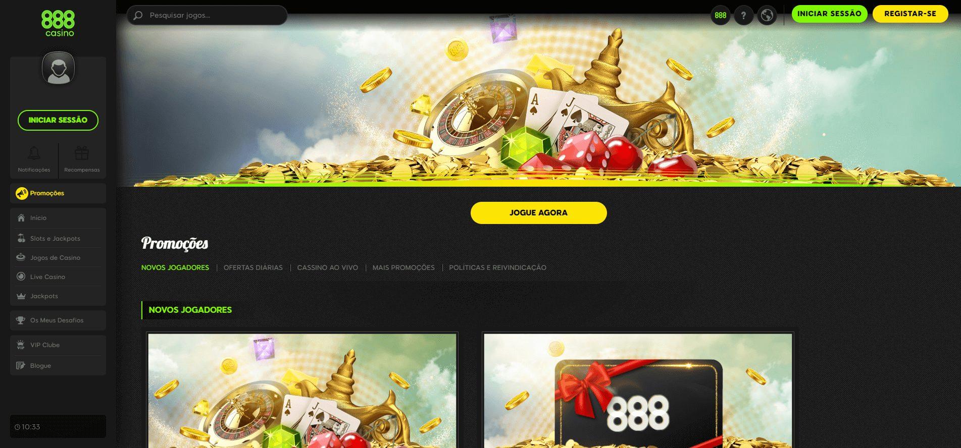 promoções diárias no 888casino