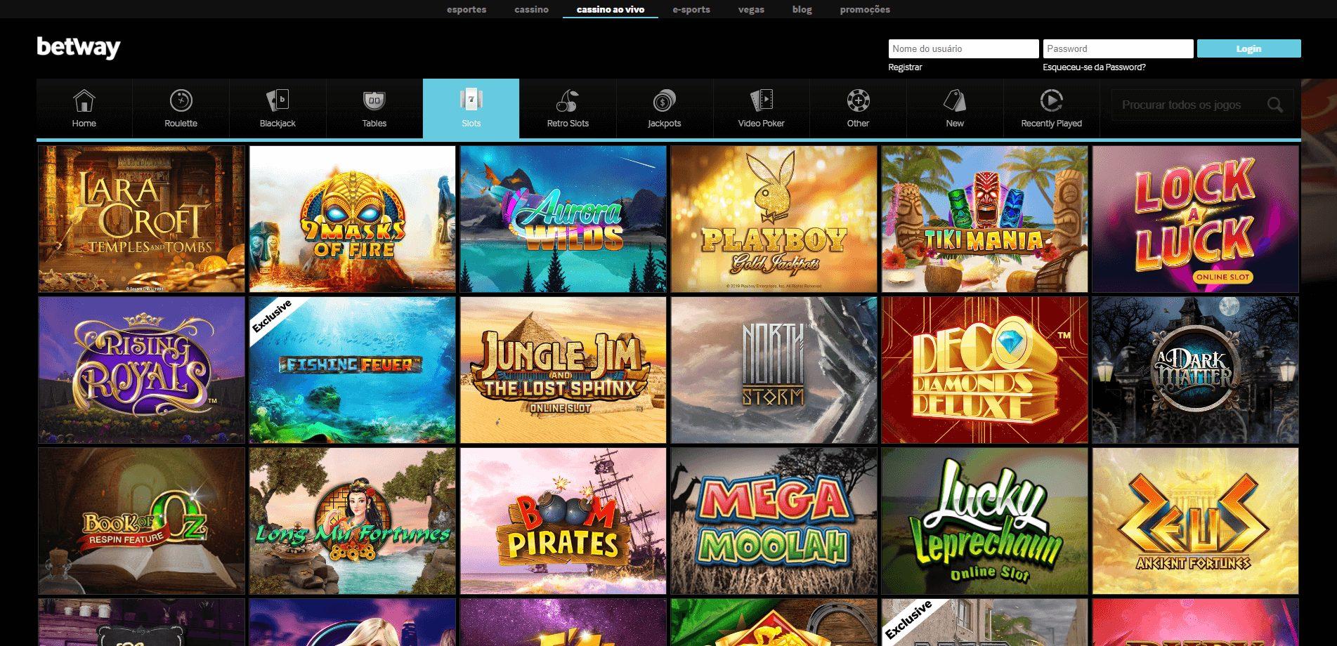 mais de 400 slots online no betway cassino