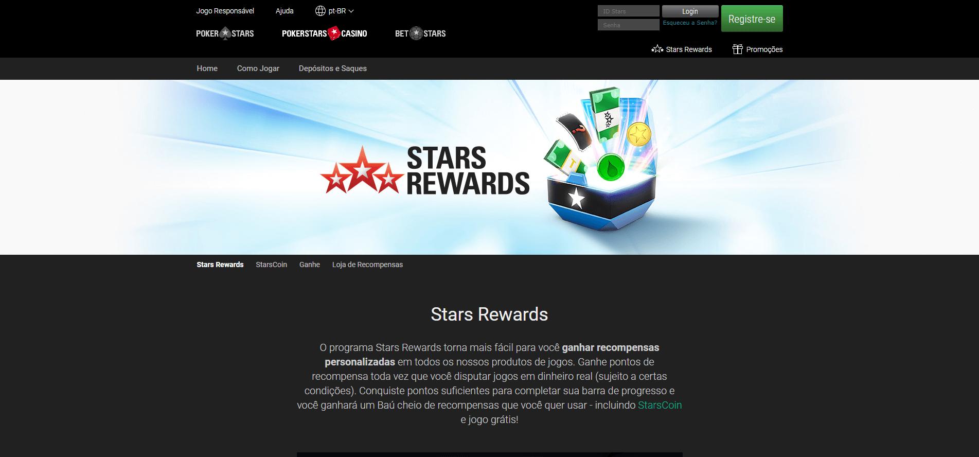 recompensas personalizadas com o Stars Rewards