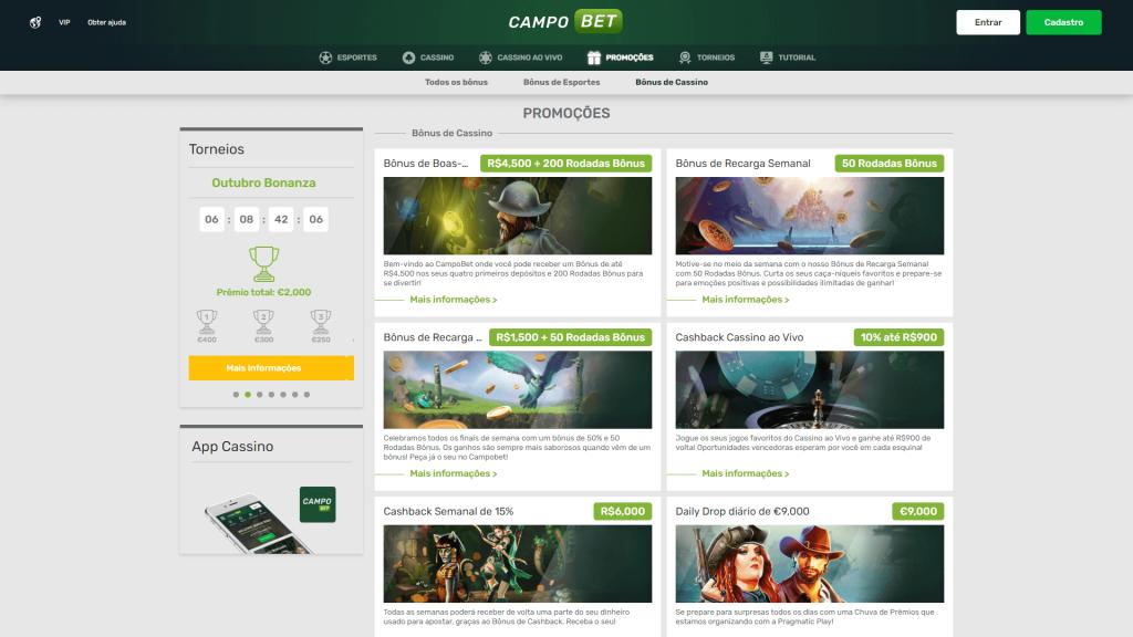 CampoBet Cassino Promoções
